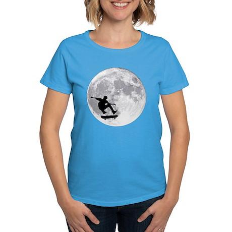 Moon skateboard Women's Dark T-Shirt