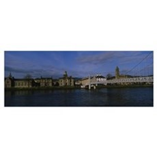 Buildings on the waterfront, Inverness, Highlands, Poster
