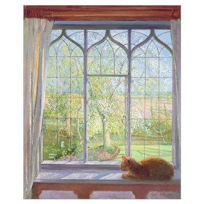 Window in Spring, 1992 Framed Print