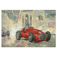 Whitehead's Ferrari passing the pavillion, Jersey  Canvas Art