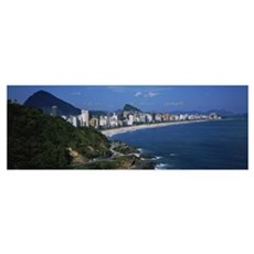 Buildings on the waterfront, Rio De Janeiro, Brazi Framed Print
