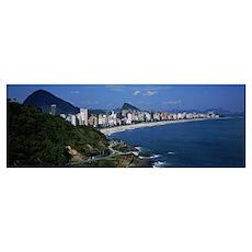 Buildings on the waterfront, Rio De Janeiro, Brazi Poster