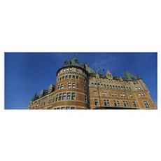 Low angle view of a building, Chateau Frontenac, Q Poster
