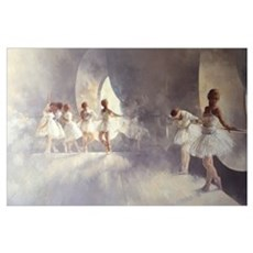 Ballet Studio (oil on canvas) Poster