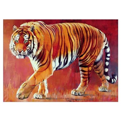 Bengal Tiger (oil on canvas) Poster