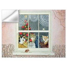 The Christmas-Mouse Wall Decal