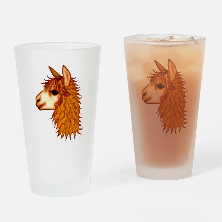 Cute Cria Drinking Glass