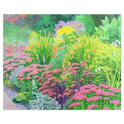 Summer Garden (oil on board) Framed Print