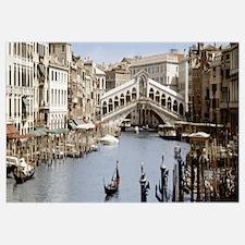 Bridge over a canal, Rialto Bridge, Venice, Veneto