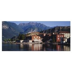 Buildings on the waterfront, Limone, Lake Garda, I Poster