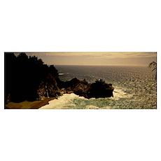 High angle view of a coastline, Carmel, California Poster