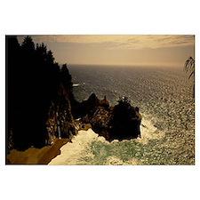 High angle view of a coastline, Carmel, California