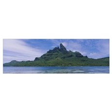 Rocks on an island, Bora Bora, French Polynesia Poster