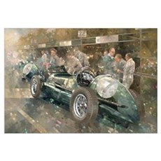 R. Parnell's Maserati (oil on canavs) Framed Print