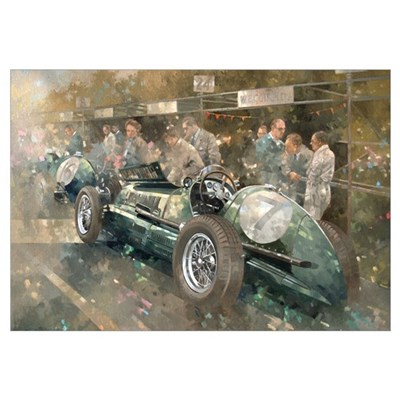 R. Parnell's Maserati (oil on canavs) Poster