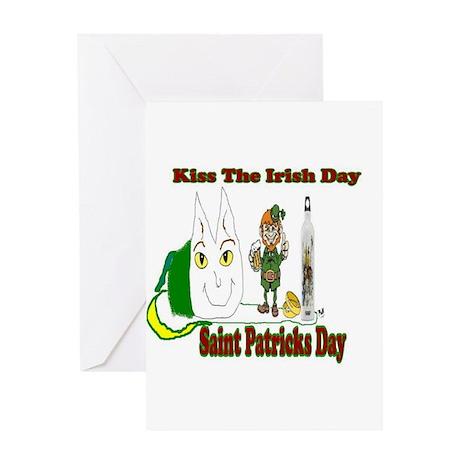 Kiss The Irish Greeting Card