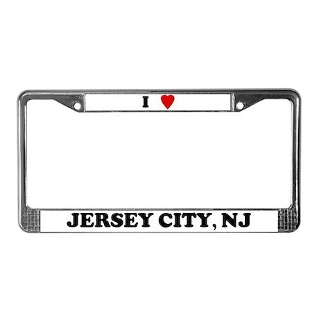 I Love Jersey City License Plate Frame