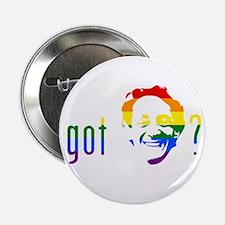"""Rainbow Harvey Milk 2.25"""" Button"""