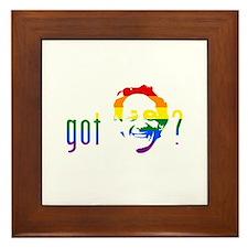 Rainbow Harvey Milk Framed Tile