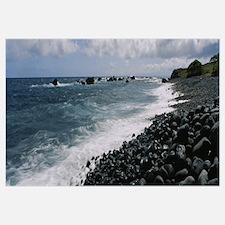 Waves breaking on the coast, Kaupo, Maui, Hawaii
