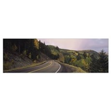 Winding road on a hillside, Conejos County, Colora Framed Print