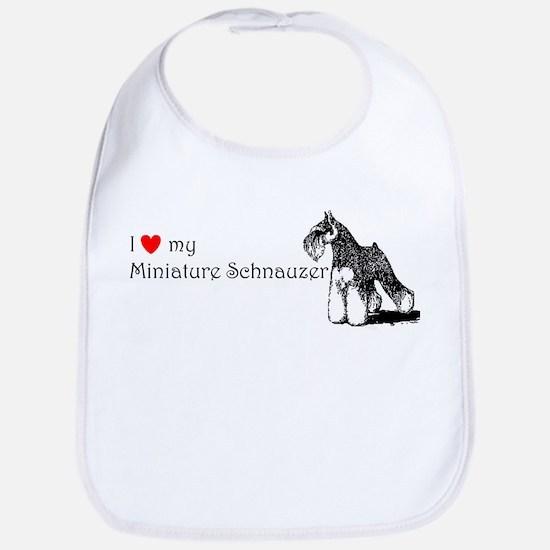 Love My Mini-Schnauzer Bib