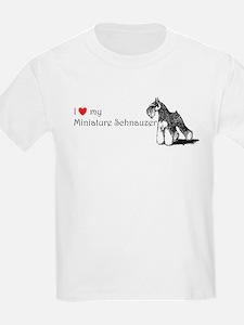 Love My Mini-Schnauzer Kids T-Shirt