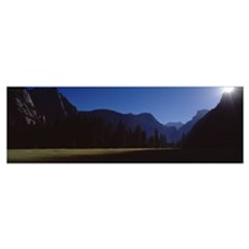 Silhouette of mountains, Yosemite Valley, Californ Poster