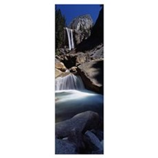 Low angle view of a waterfall, Vernal Falls, Yosem Poster