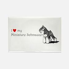Love My Mini-Schnauzer Rectangle Magnet
