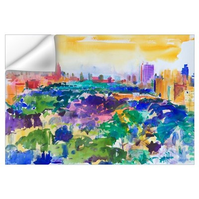 Central Park, New York, 2011 (w/c on paper) Wall Decal