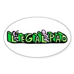Legal Pad Sticker (Oval 10 pk)