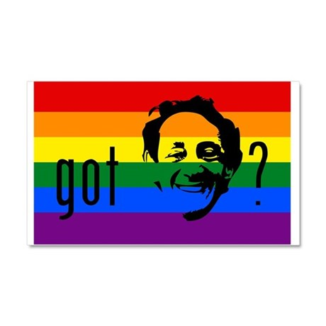 Rainbow Flag Harvey Milk Car Magnet 20 x 12