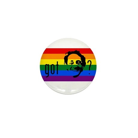 Rainbow Flag Harvey Milk Mini Button (100 pack)