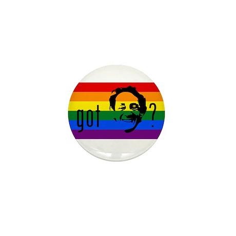 Rainbow Flag Harvey Milk Mini Button