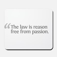 Aristotle The law is Mousepad