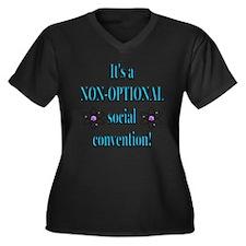 Non-optional Social Conventio Women's Plus Size V-