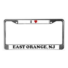 I Love East Orange License Plate Frame