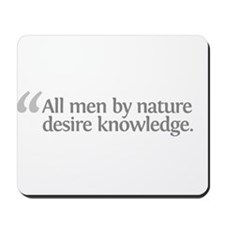 Aristotle All men by Mousepad