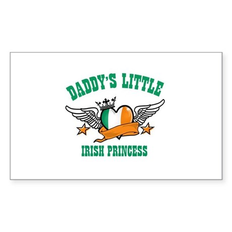 Daddy's Little Irish Princess Sticker (Rectangle)