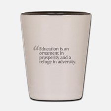 Aristotle Education is an orn Shot Glass