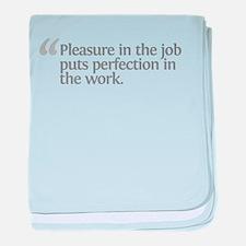 Aristotle Pleasure in the job baby blanket