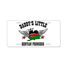 Daddy's Little Kenyan Princess Aluminum License Pl
