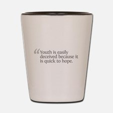 Aristotle Youth is Easily Dec Shot Glass