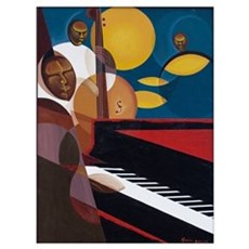Cobalt Jazz, 2007 (oil and acrylic on canvas) Poster