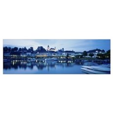 Switzerland, Rapperswil, Lake Zurich Poster