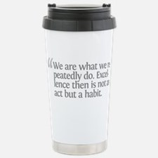 Aristotle We are what we repe Stainless Steel Trav