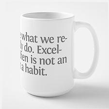 Aristotle We are what we repe Mug