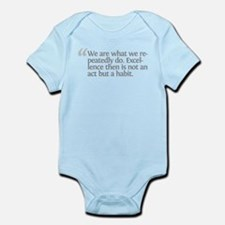 Aristotle We are what we repe Infant Bodysuit