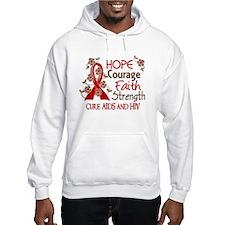 Hope Courage Faith AIDS Hoodie